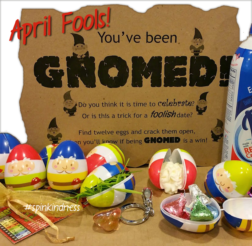 You've Been Gnomed! Happy April Fools' Day!